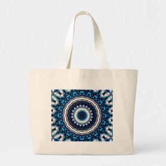 Old world Vintage Moroccan influenced tile design Large Tote Bag