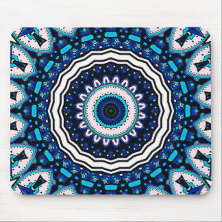 Old world Vintage Moroccan influenced tile design Mouse Pad