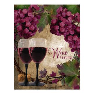 Old World Vintage Red Grapes Wine Tasting Flyers