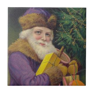 Old World Vintage Santa Claus Tile