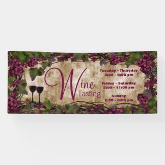 Old World Vintage Wine Tasting Banner