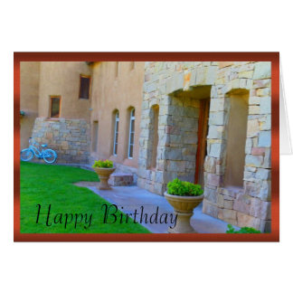 Old World Winery & Bicycle Birthday Card