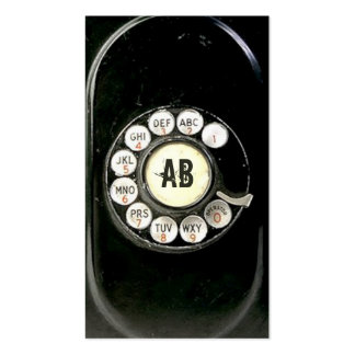 Old worn bakelite phone rotary dial Call me Business Card Templates