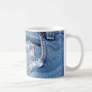 Old Worn Blue Jeans Classic White Mug