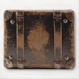 Old worn leather luggage mousepads