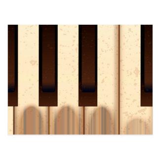 Old Worn Piano Keys Postcard