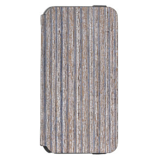 Old worn plank wall with upright white paint iPhone 6/6s wallet case