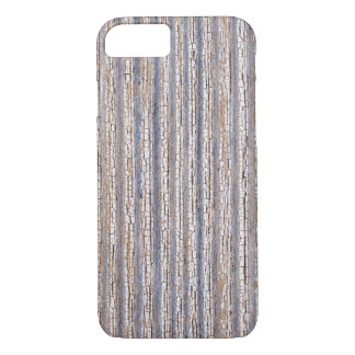 Old worn plank wall with upright white paint iPhone 8/7 case