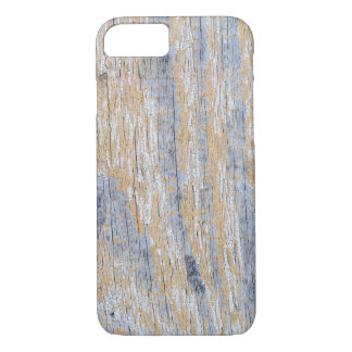Old worn plank wall with white paint iPhone 8/7 case
