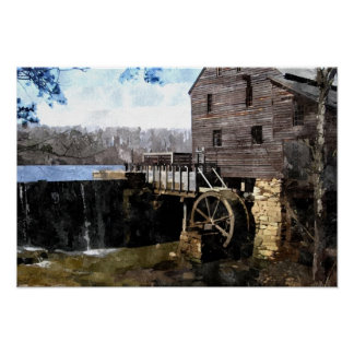 Old Yates Mill Poster