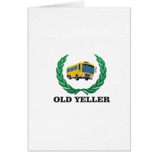 old yeller bus fun card