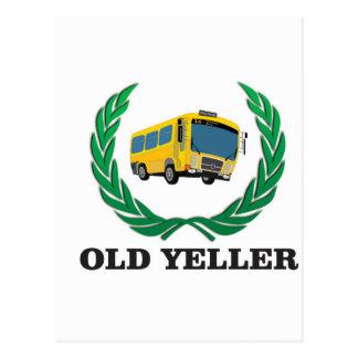 old yeller bus fun postcard