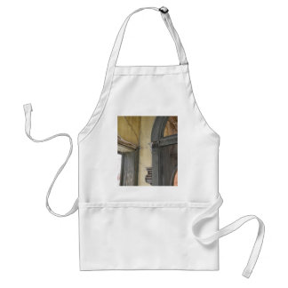 Old Yellow Architectural Building Doorway Adult Apron