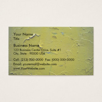 Old Yellow paint cracked Business Card