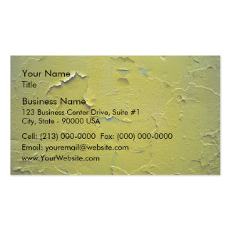 Old Yellow paint cracked Double-Sided Standard Business Cards (Pack Of 100)
