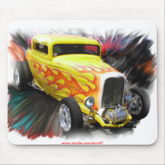 Old Yellow Roadster Mouse Pad