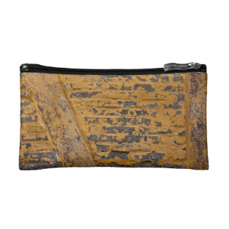 Old yellow wall cosmetic bag