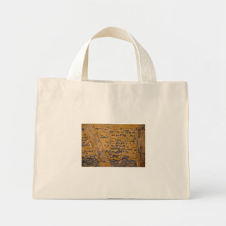 Old yellow wall bags