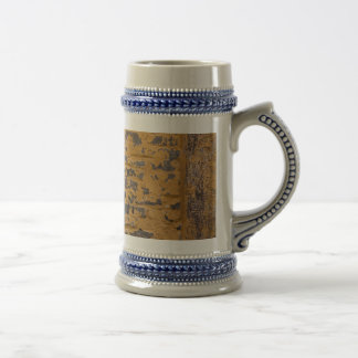Old yellow wall beer stein