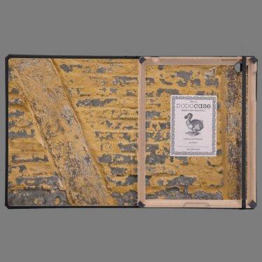 Old yellow wall iPad folio cases