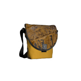Old yellow wall messenger bags