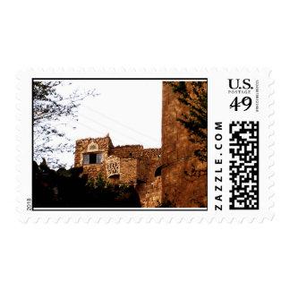 old yemeni house postage stamp