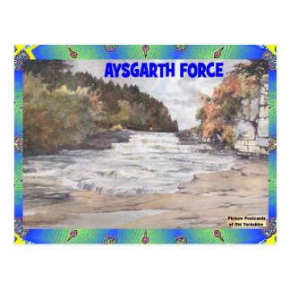 OLD YORKSHIRE - AYSGARTH FORCE POST CARDS