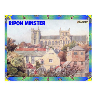 OLD YORKSHIRE - RIPON MINSTER POSTCARD