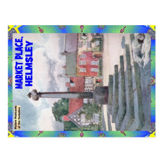 OLD YORKSHIRE - THE MARKET PLACE - HELMSLEY POSTCARD