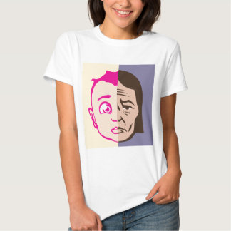 Old Young Face concept Shirt