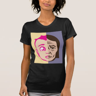 Old Young Face concept T Shirt