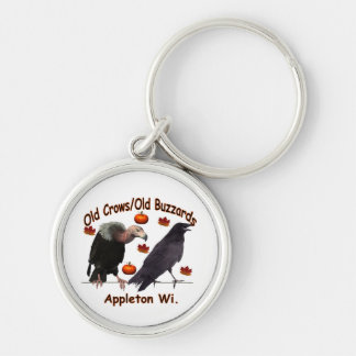 oldcrows_buzzardsl02 Silver-Colored round keychain