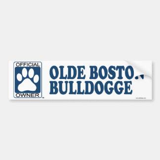 Olde Boston Bulldogge Blue Car Bumper Sticker
