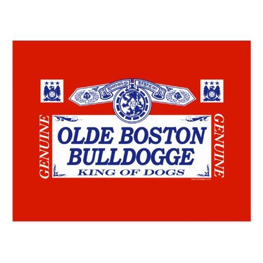 Olde Boston Bulldogge Postcard