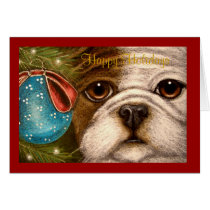 OLDE ENGLISH BULLDOG HOLIDAY Card