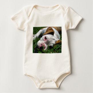 Olde English Bulldog Puppy Baby Bodysuit