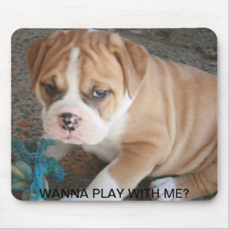 OLDE ENGLISH BULLDOG PUPPY MOUSE PAD