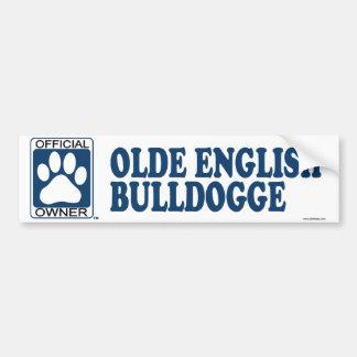 Olde English Bulldogge Blue Bumper Sticker