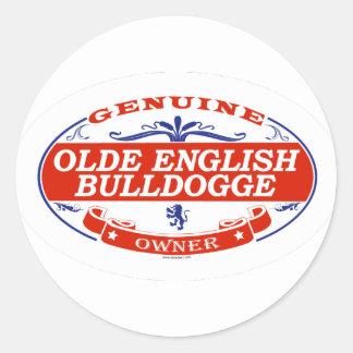 Olde English Bulldogge  Classic Round Sticker