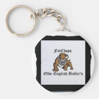 Olde English Bulldogge Item's Basic Round Button Keychain