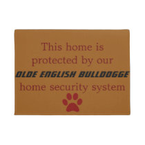 olde english bulldogge security doormat