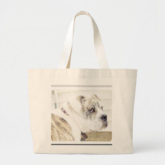Olde english bulldogge tote bag
