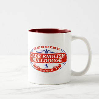 Olde English Bulldogge  Two-Tone Coffee Mug