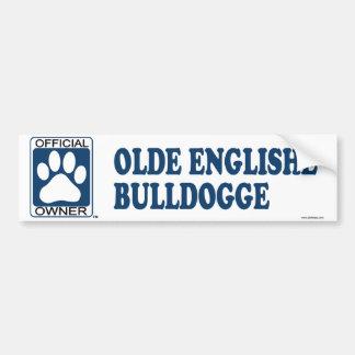 Olde Englishe Bulldogge Blue Bumper Sticker