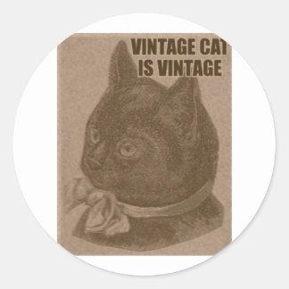 Olde LOLcat Classic Round Sticker