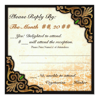 Olde New Orleans (Wedding Reply Card) Card