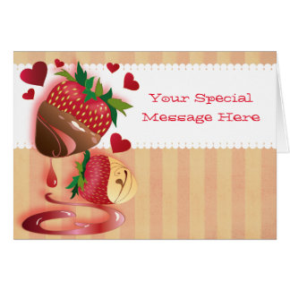 Olde Time Candy Dipped Strawberries Card