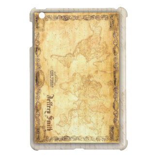 Olde time map / Our World Customizeable with name Cover For The iPad Mini
