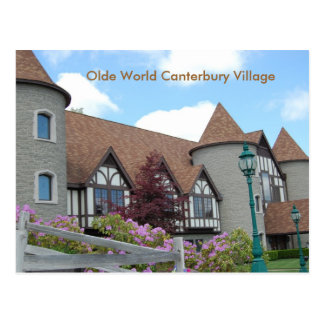 Olde World Canterbury Village Post Card 2