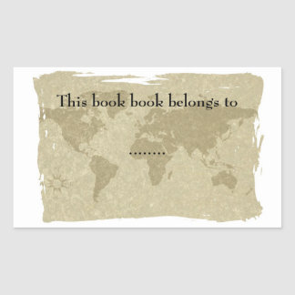 Olde world map book plate